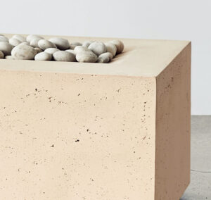 rectangle fire pit taupe