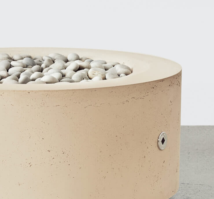 round fire pit taupe
